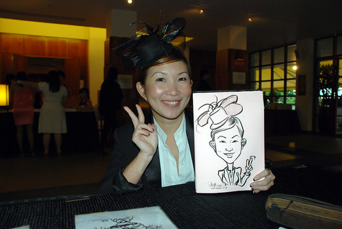 caricature live sketching for Rio Tinto Dinner & Dance - 2