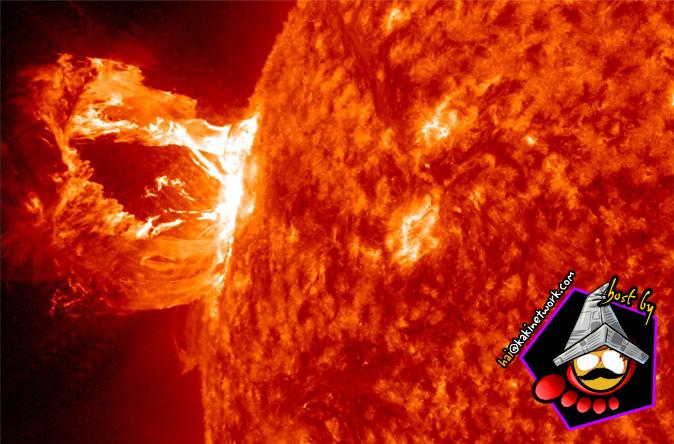 letusan matahari