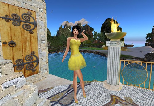 Shiki-Chiffon Yellow Spring dress (only members) by Cherokeeh Asteria