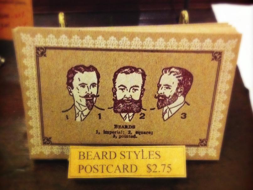 beard postcard