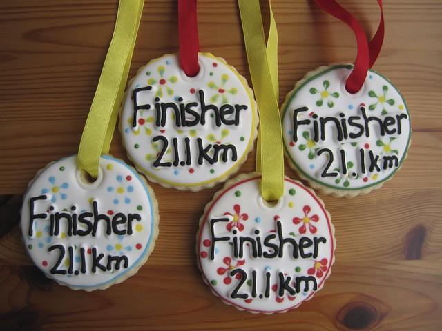 Half Marathon Finisher Cookie Medals | Flickr - Photo Sharing!