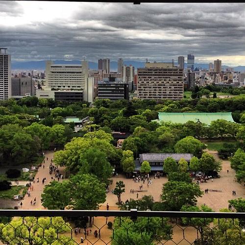 Desde el castillo de Osaka #osaka #japan #japon