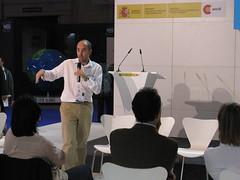 Alejandro Jiménez, de ONGAWA, en el Foro Mundial celebrado en Marsella