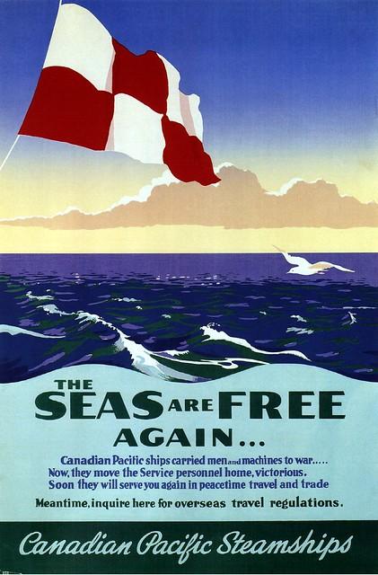 The seas are free again... 1946