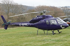 G-BPRL - 1983 build Aerospatiale  AS355F-1 Ecureuil II, at the 2012 Cheltenham Festival