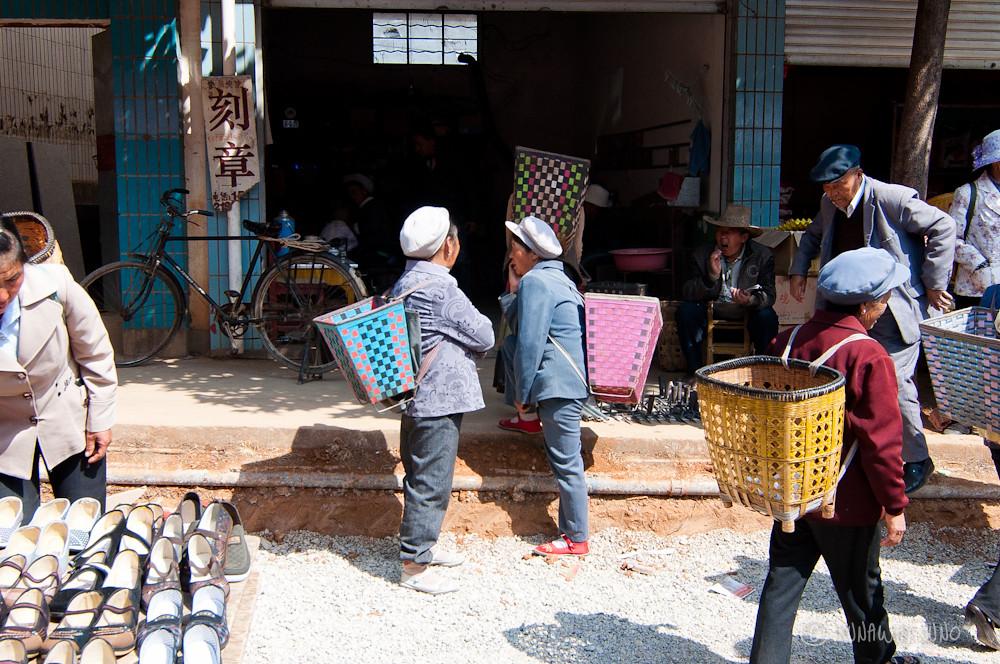 Ladies in Shaxi Market
