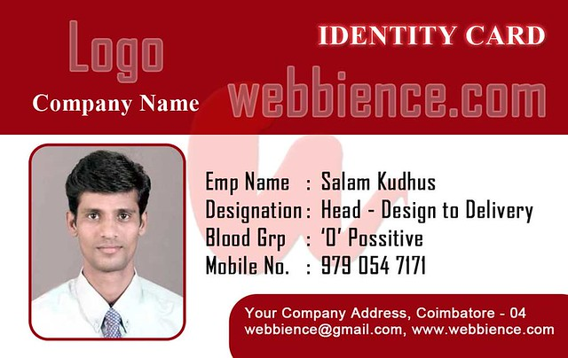 Free Id Card Templates: Id Card Templates - Set 001 - Webbience.Com