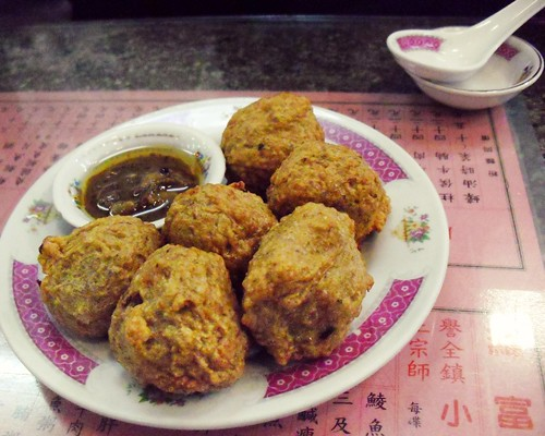 fried dace balls @ law fu kee