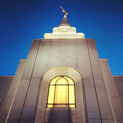 Touring the Mormon Temple in Kansas city.
