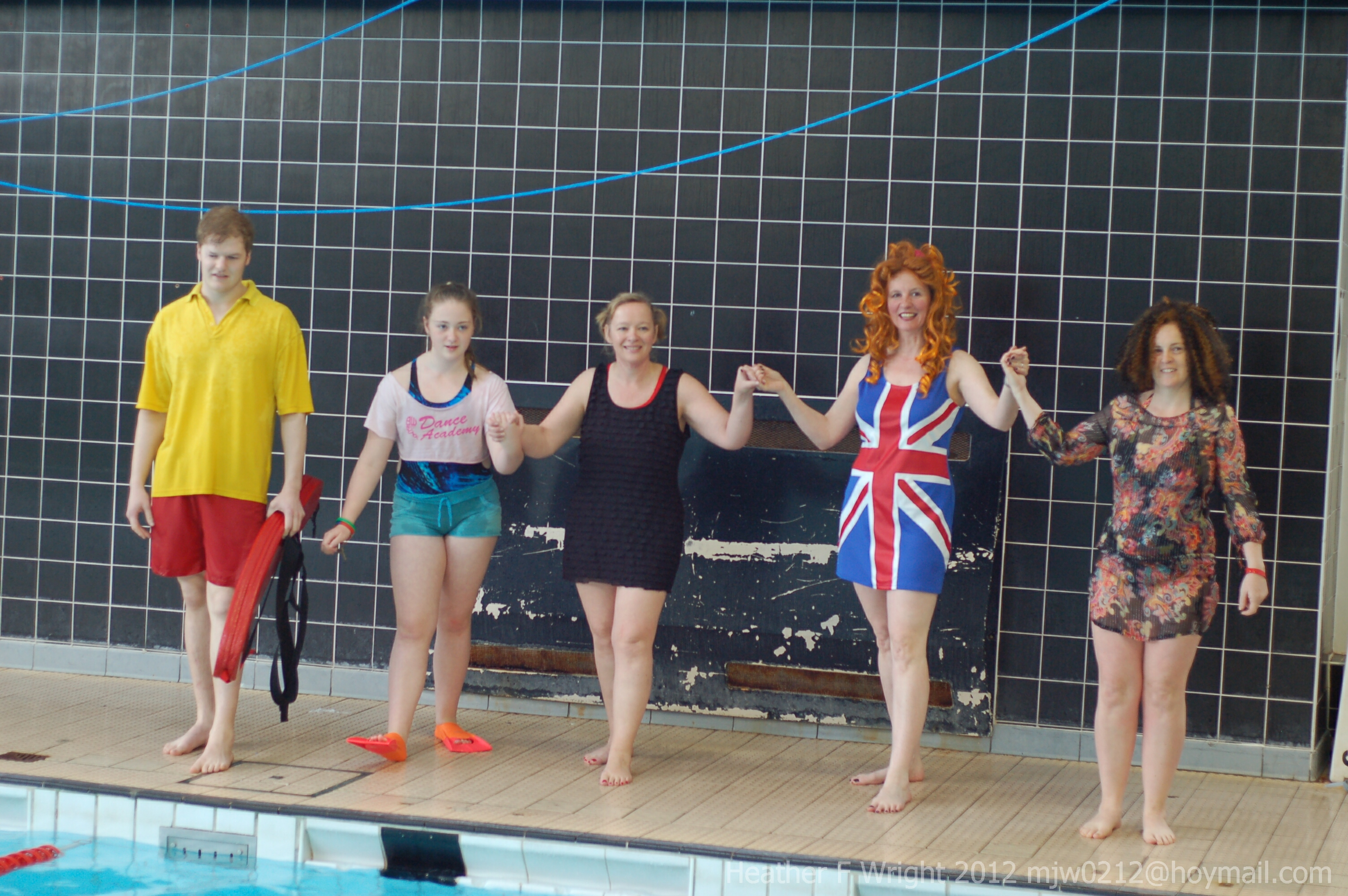 West Lancashire Mayoress and her Spice Girls at the Ormskirk Swimathon April 2012