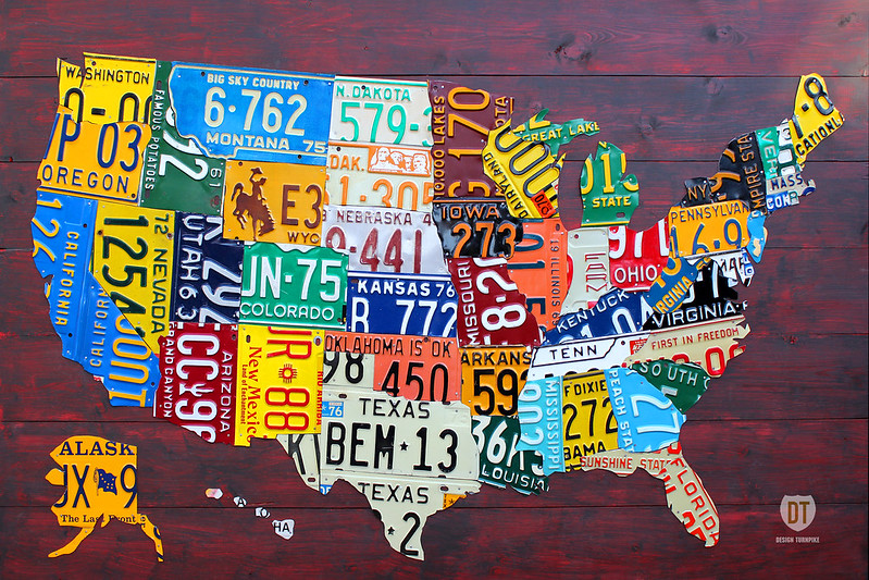 License Plate Map of the USA 21012 Ed. 3