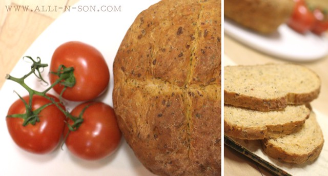 Pizza Bread or Tomato Basil Bread