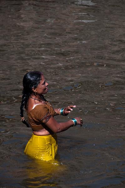 Baño ritual en el templo