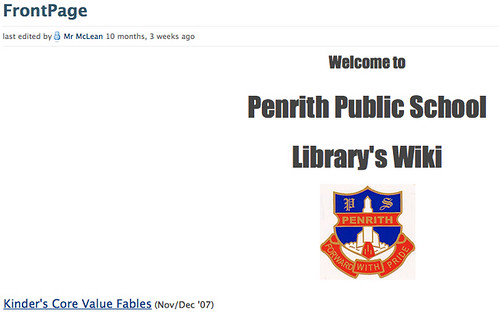 Penrith PS Library wiki