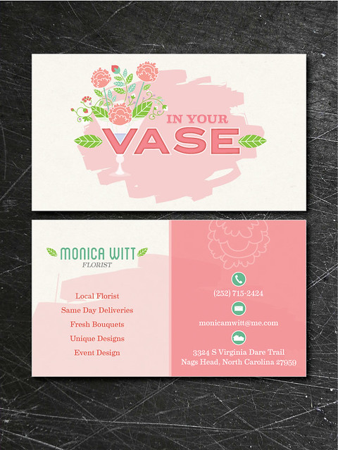 In Your Vase Business Cards