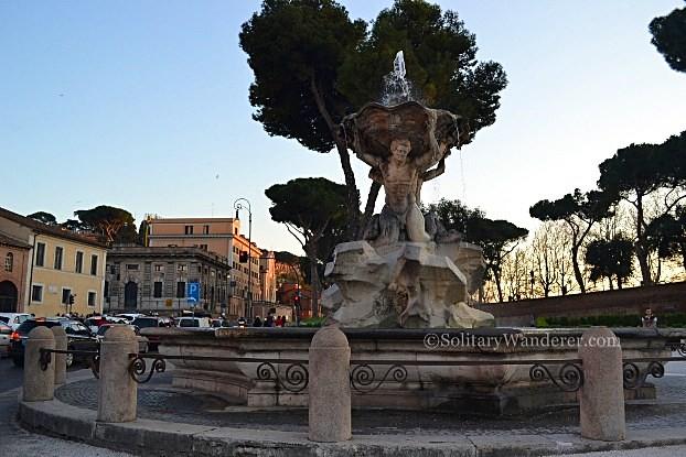 Fontana Nettuno in the Piazza Bocca della Verita, Rome