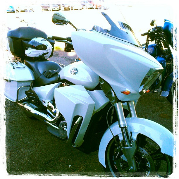 I rode pillion on this Victory bike this time