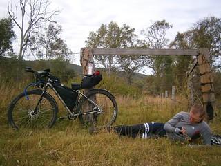 Man and Bike - Troy