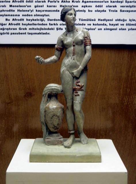 Late Hellenistic Nude Aphrodite With Snakes Entwined Aroun