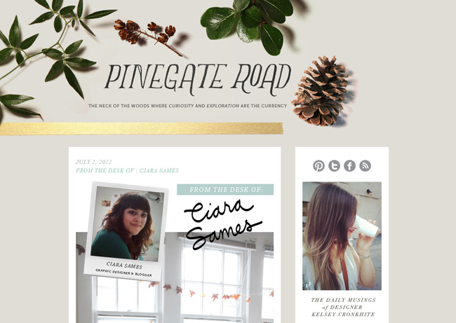Pinegate Road Kelsey Cronkhite Glass and Sable Ciara Sames graphic designer