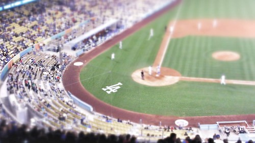 Tilt Shift Dodger Stadium
