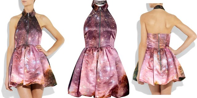 CHRISTOPHER KANE - galaxy-print silk-satin dress