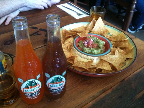 Jarritos ($5.50 each) & Guacamole ($8.90)