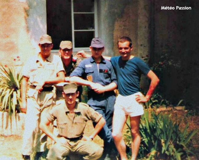 soldats du feu près de Nîmes mobilisés pour la lutte contre les incendies durant l'été 1982 météopassion