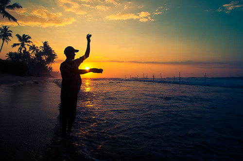 travel sun beach fishing sand asia surf fishermen adventure srilanka ceylon unawatuna stickfishermen thalpe srilanka886283