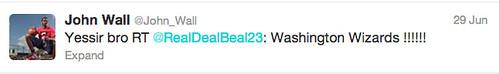 """bradley beal"" ""nba draft"" ""john wall"" ""twitter"""
