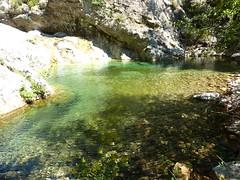 Vasque-cascade entre la brèche du Carciara et la confluence Frassiccia - Velacu