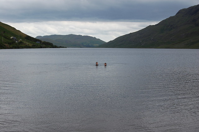 Swimming in Loch Na Fooey
