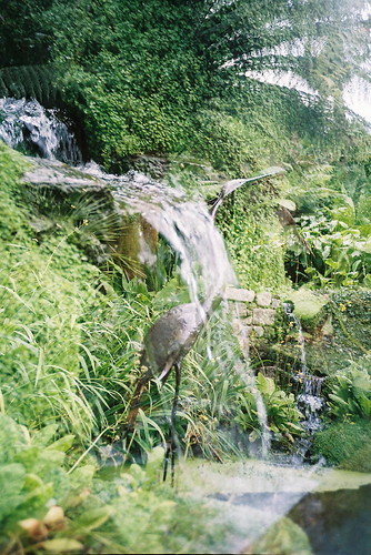 Multiple Exposure Waterfall and Crane
