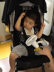 行きの電車にて (2012/7/14)