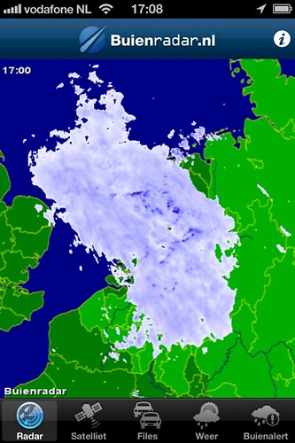 Today it rained all over Holland