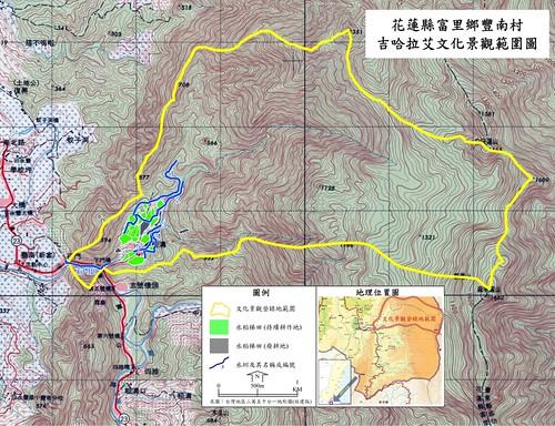文化景觀登錄地地理位置圖(詳細位置:http://goo.gl/maps/7dA J)觀(水土保持局花蓮分局提供)