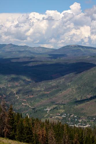 mountains colorado view valley vail