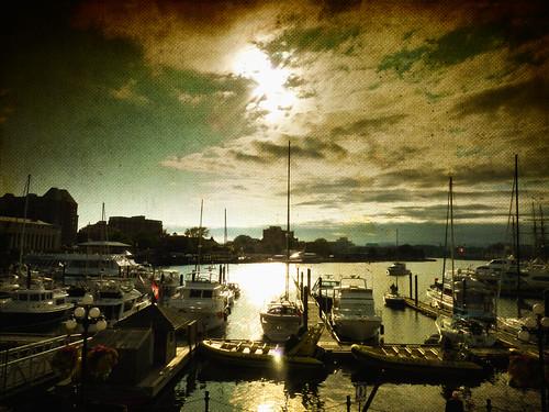 sunset canada boats harbor vancouverisland victoriabc motat thegalaxy tatot magicunicornverybest