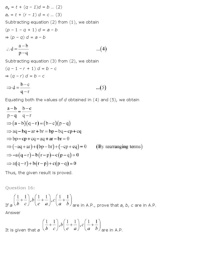 Printables Sequences And Series Worksheets class 11 maths ncert solutions sequence and series pdf math worksheet for 11th chapter 9 sequences class