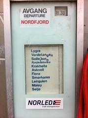 AVGANG DEPARTURE NORDFJORD