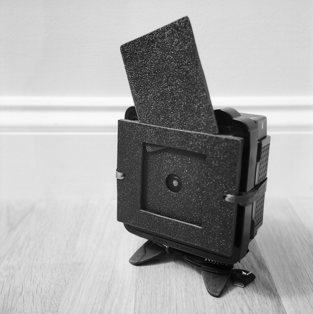 Homemade super wide pinhole camera 18mm F120 with Mamiya RZ67 Professional II film back