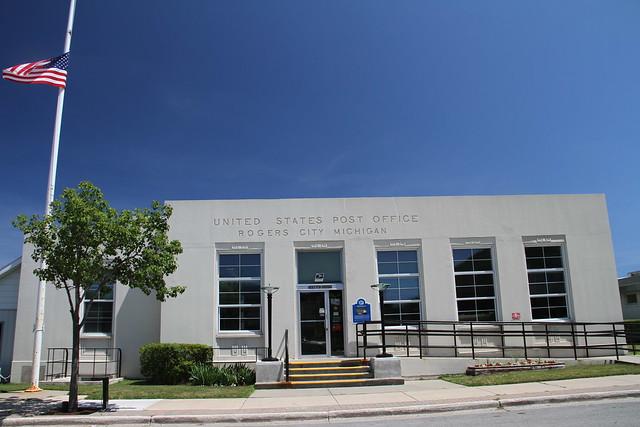 Rogers City Michigan Post Office 49779 Presque Isle