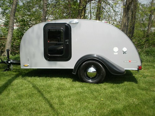 6x10 Silver Shadow Teardrop Camper Trailer Little Guy