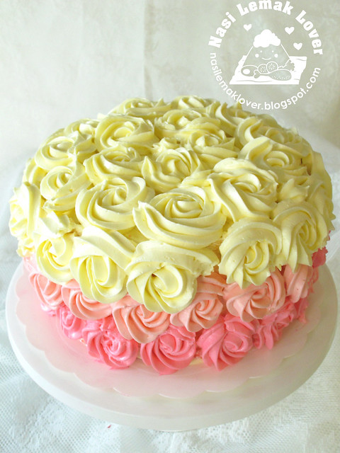 Ombre Rose Cake Frosting Recipe