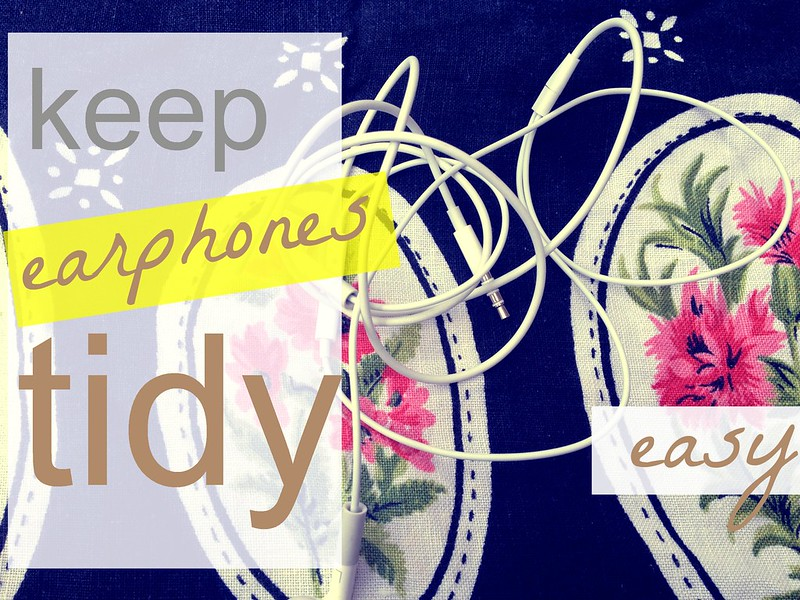 how to organise earphones