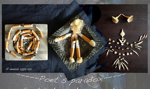 Poet's paradoxe /La paradoja de los poetas / Colillas by FFMENDOZA -AUSTRALIA