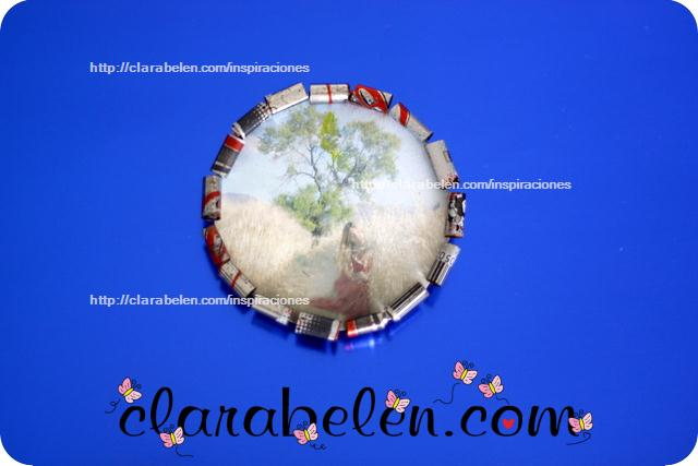 Marcos de fotos hechos con latas de refrescos