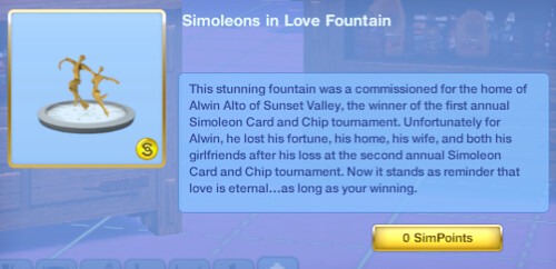 Simoleons In Love