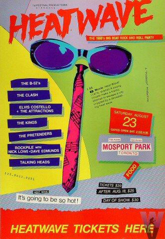 08-23-80 Heatwave Festival, Mosport Park Race Track, Bowmanville, Ont, Canada (Poster)