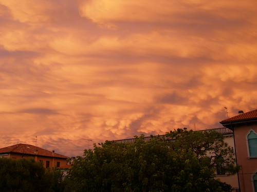 Strange clouds over Lido di Venezia
